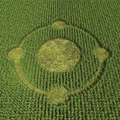 Affisch 3d illustration av en gröda cirkel