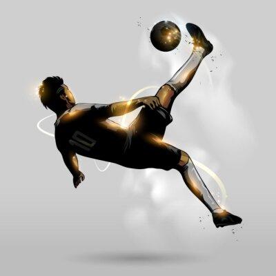 Affisch abstrakt fotboll overhead spark