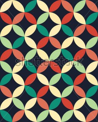 Affisch Abstrakt geometrisk hipster-läge kudde cirklar mönster