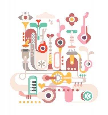 Affisch abstrakt Music