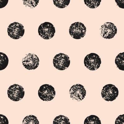 Affisch Abstrakt runda former sömlösa mönster