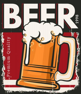 Affisch Affisch retro öl