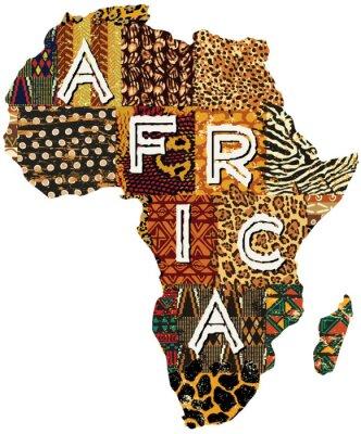 Affisch Afrika lapptäcke vektorkarta