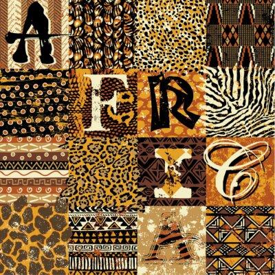 Affisch Afrikansk stil vektor wallpaper