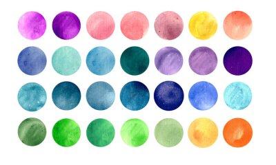 Affisch Akvarell cirkel texturer. Mega-användbar förpackning för dig att dra
