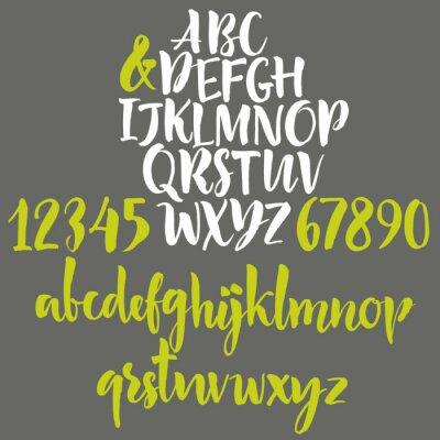 Affisch Alfabetet: gemener, versaler och siffror.