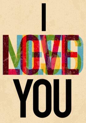 Affisch Alla hjärtans dag typ text calligraphic