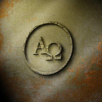Affisch Alpha Omega - Seal - Weathered