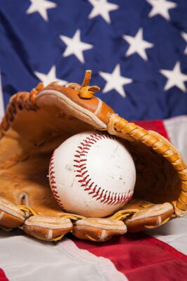 Affisch American baseball