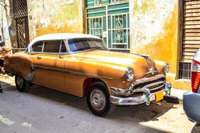 Affisch Amerikanska och sovjetiska bilar 1950 - 1960 från Havanna.