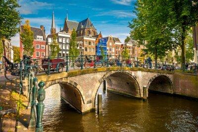 Affisch Amsterdam stadsbilden