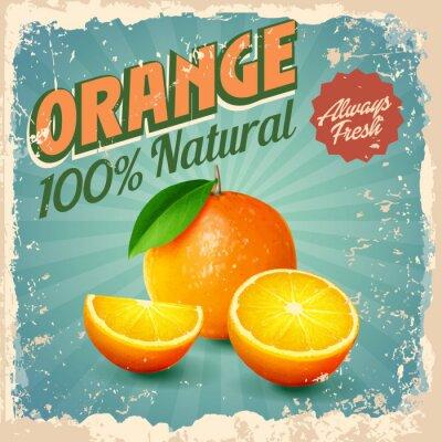 Affisch apelsin tappning
