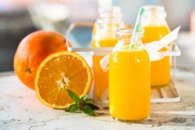 Affisch Apelsinjuice flaska