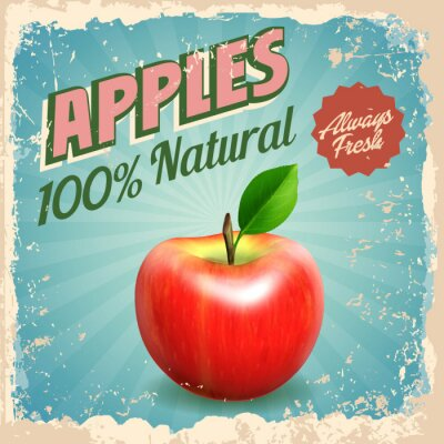 Affisch äpplen tappning