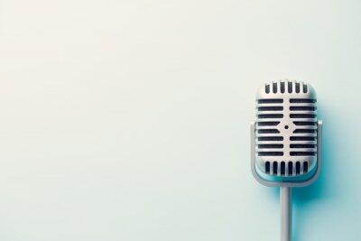 Affisch årgång silver mikrofon