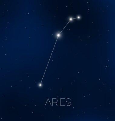 Affisch Aries konstellation i natthimlen
