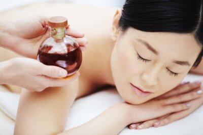 Affisch Aromatisk olja för massage