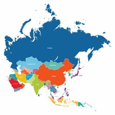 Affisch asia Karta