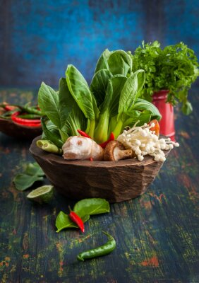 Affisch Asian Food Ingredients