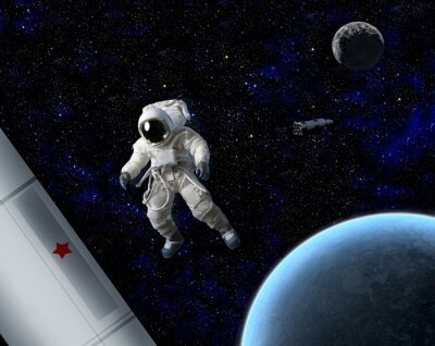 Affisch Astronaut i rymden