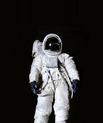 Affisch Astronaut mot en svart bakgrund