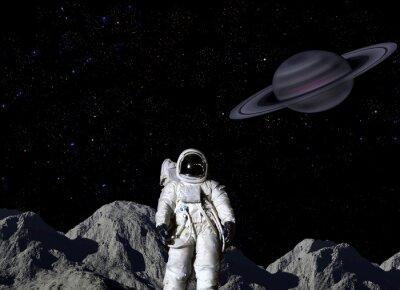 Affisch Astronaut på månens yta