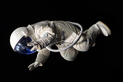 Affisch astronaut på svart bakgrund