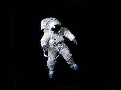 Affisch Astronaut svävar mot en svart bakgrund.