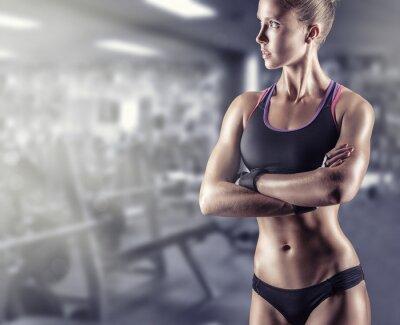 Affisch atletisk flicka