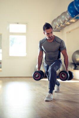 Affisch Att bygga sina biceps