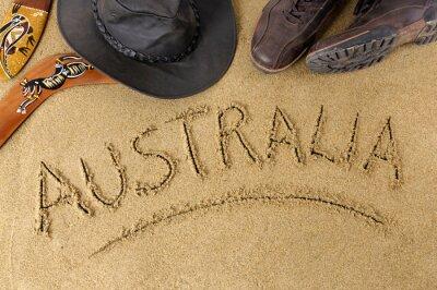 Affisch australien bakgrund