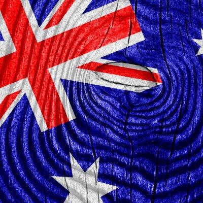 Affisch australien flagga