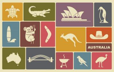 Affisch australiska ikoner