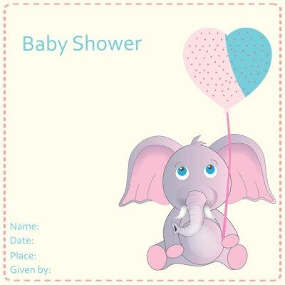 Affisch Baby shower