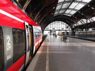 Affisch Bahn stopp i Bahnhof