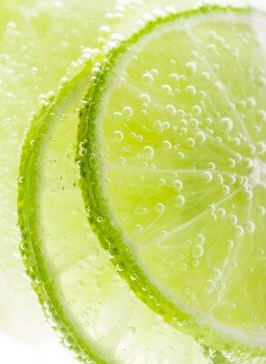 Affisch Bakgrund med frukt lime