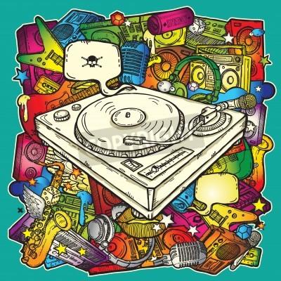 Affisch Bakgrundsmusik i färg