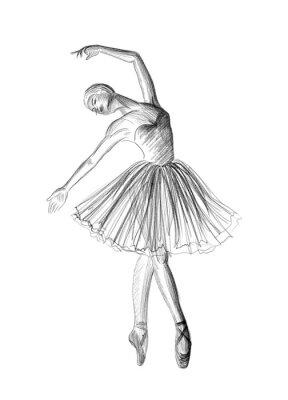 Affisch ballerina