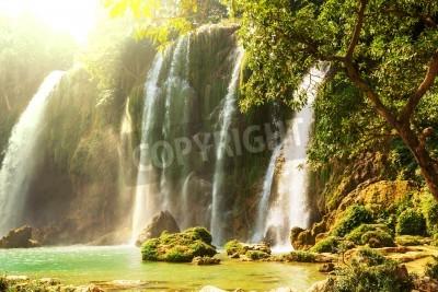 Affisch Ban Gioc - Detian vattenfall i Vietnam