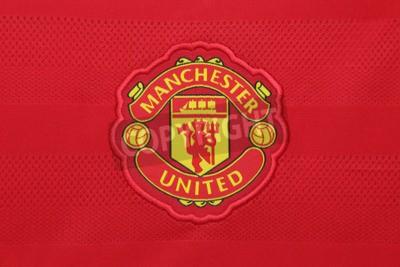 Affisch Bangkok, Thailand - 21 augusti 2015: Manchester United fotbollsklubben på en officiell jersey av klubban på Augusti 21,2015 i Bangkok. Röda jäklar är redo för nästa säsong