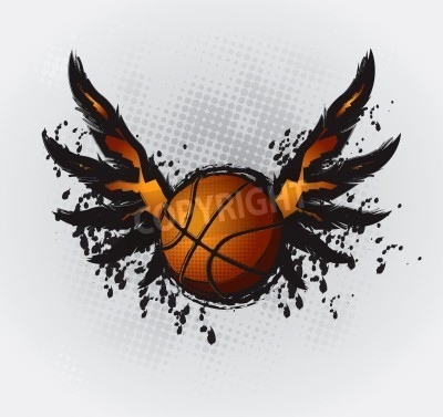 Affisch Basket designelement 1 Vector Drawing