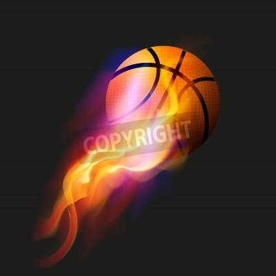 Affisch Basket Fire Ball