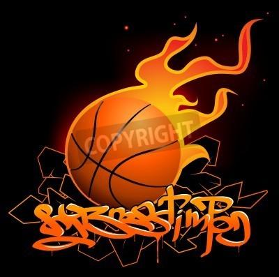 Affisch Basket graffiti bild