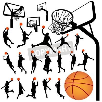 Affisch basket och ryggstöd vektor