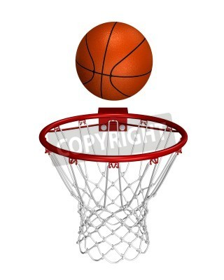 Affisch Basket över ringen