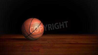 Affisch basket på trägolvet grafisk bakgrund