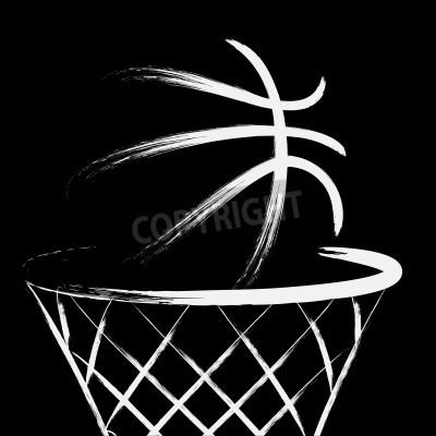Affisch Basket, vektor