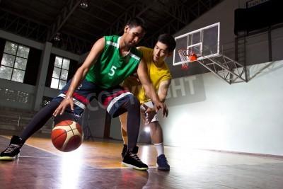 Affisch Basketbal spelaren i spelet