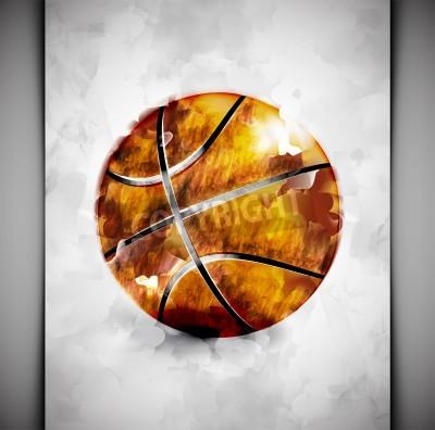 Affisch Basketboll i vattenfärg utformar