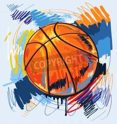 Affisch basketdesign färgbakgrund